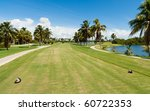 Landscape View Of A Golf Cours...