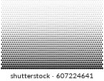 abstract halftone pattern... | Shutterstock .eps vector #607224641