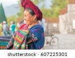 panajachel  guatemala  ... | Shutterstock . vector #607225301