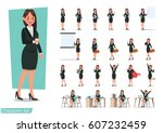Set Of Business Woman Characte...