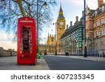 london  england   the iconic... | Shutterstock . vector #607235345