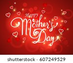 happy mother's day hand drawn...   Shutterstock .eps vector #607249529
