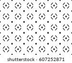 vector monochrome seamless... | Shutterstock .eps vector #607252871