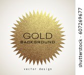 gold star logo. golden shiny... | Shutterstock .eps vector #607269677