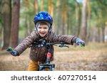 happy kid boy of 3 or 5 years... | Shutterstock . vector #607270514
