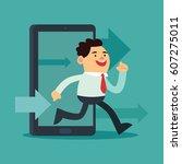 flat style illustration on work ... | Shutterstock .eps vector #607275011