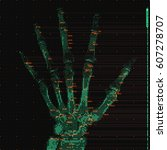 vector green abstract hand...