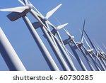 group aligned modern windmills... | Shutterstock . vector #60730285