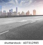 roads and urban skyline   Shutterstock . vector #607312985