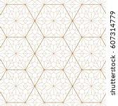 japanese pattern vector. gold... | Shutterstock .eps vector #607314779