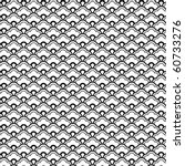 chinese vector pattern in b w. | Shutterstock .eps vector #60733276