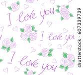 valentines day background....   Shutterstock .eps vector #607339739
