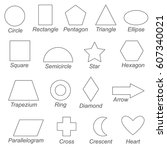 geometric shapes and forms set... | Shutterstock .eps vector #607340021