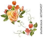 illustration of beautiful...   Shutterstock . vector #607345457