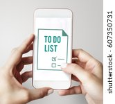 planner to do list agenda note... | Shutterstock . vector #607350731
