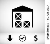 warehouse icon | Shutterstock .eps vector #607353014