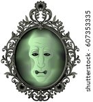the magic mirror on the wall | Shutterstock .eps vector #607353335