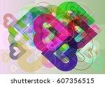 valentine template vector   Shutterstock .eps vector #607356515