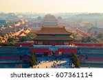 Aerial view of Forbidden City from Jingshan Park in Bejing, China