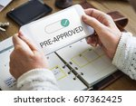 authenticated premium selected... | Shutterstock . vector #607362425