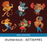 vector set of cartoon images of ...   Shutterstock .eps vector #607364981