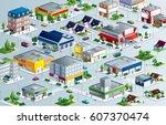 isometric neighborhood | Shutterstock .eps vector #607370474