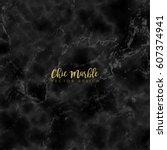 minimalistic trendy marble... | Shutterstock .eps vector #607374941