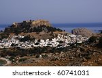 Castle  On The Hill  Greece...