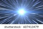 light speed space travel | Shutterstock . vector #607413479