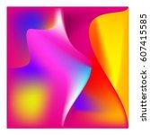 3d wavy background. dynamic... | Shutterstock .eps vector #607415585