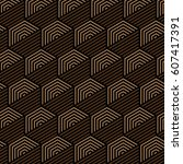 brown and black pattern... | Shutterstock .eps vector #607417391