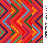 geometric seamless pattern.... | Shutterstock .eps vector #607419971
