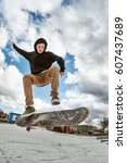 A Young Skateboarder Makes...