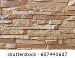 texture wall artificial stone... | Shutterstock . vector #607441637