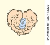 hand drawn vector illustration... | Shutterstock .eps vector #607443329