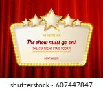 retro frame with five stars and ... | Shutterstock .eps vector #607447847