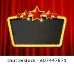 retro frame with five stars and ... | Shutterstock .eps vector #607447871