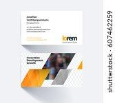 vector business card template... | Shutterstock .eps vector #607462259