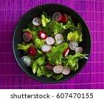 colorful healthy spring salad