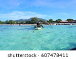 ko lipe is a thai island in the ... | Shutterstock . vector #607478411