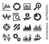 stock market trading icons set. ... | Shutterstock .eps vector #607482041