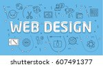 linear flat illustration for... | Shutterstock .eps vector #607491377