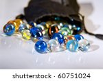 Closeup On Many Colorful Glass...