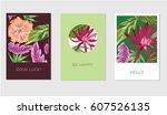 set of creative universal...   Shutterstock .eps vector #607526135