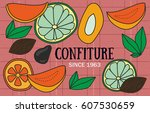 vector from fruits. template... | Shutterstock .eps vector #607530659