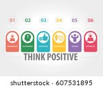 think positive infographic icons | Shutterstock .eps vector #607531895