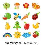 nature study children. flora... | Shutterstock .eps vector #60753391