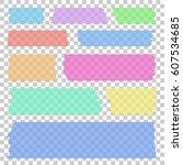 set of transparent different... | Shutterstock .eps vector #607534685