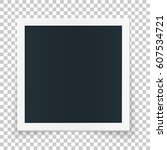 square photo place concept ... | Shutterstock .eps vector #607534721