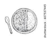 a ai bowl  granola bowl popular ...   Shutterstock .eps vector #607537445